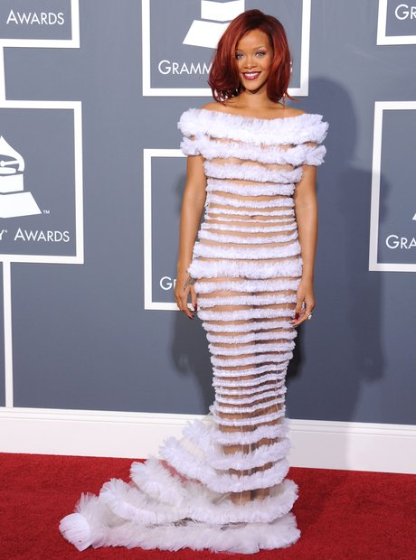 Rihanna arriving at the 53rd Annual Grammy Awards