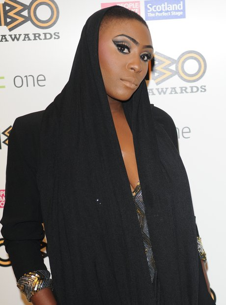 Laura Mvula on the red carpet at the Mobo Awards 2013