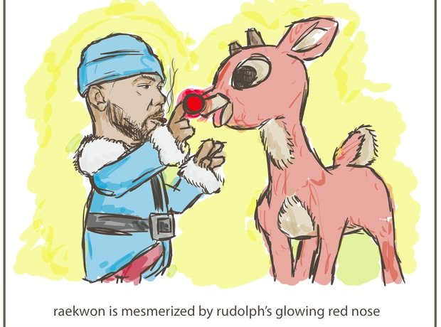 Raekwon Wu-Tang Clan Christmas Cards