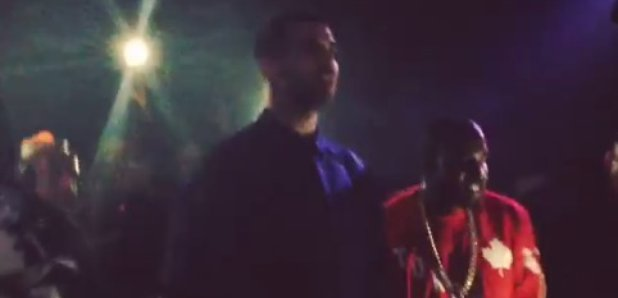 Drake and Kanye West perform at The Hoxton