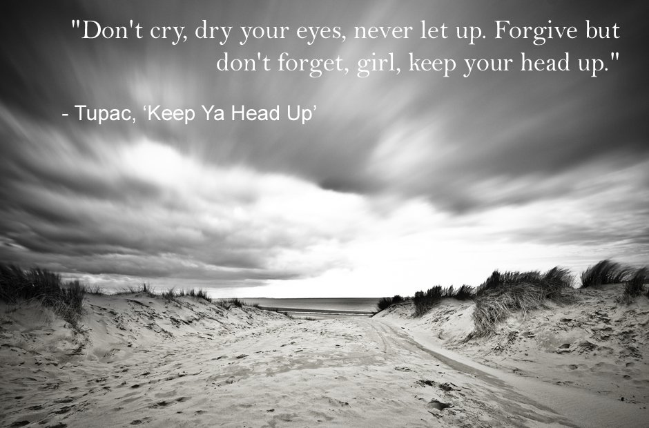 Tupac Keep Ya Head Up inspirational lyrics