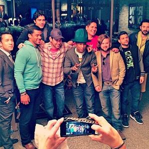 Pharrell with Entourage crew