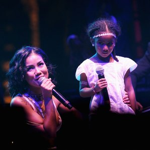 Jhene Aiko And Her Daughter at Coachella Festival