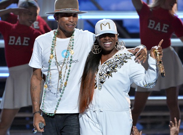 Pharrell and Miss Elliot BET Awards 2014