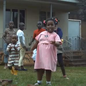 Ugandan kids dancing