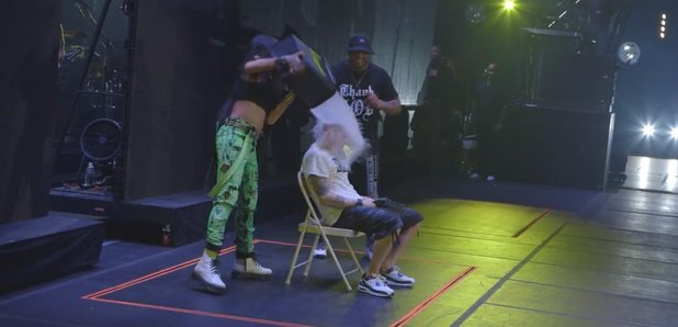 Eminem and Rihanna ice bucket challenge