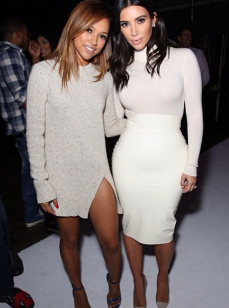 Karrueche and Kim Kardashian