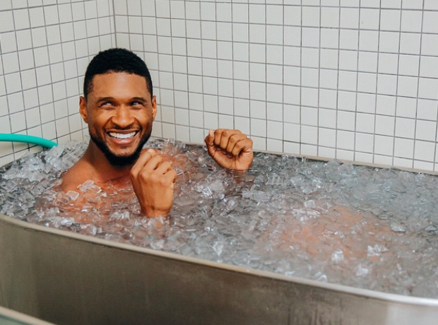 Usher in Ice bath