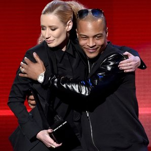 Iggy Azalea and T.I. at American Music Awards 2014