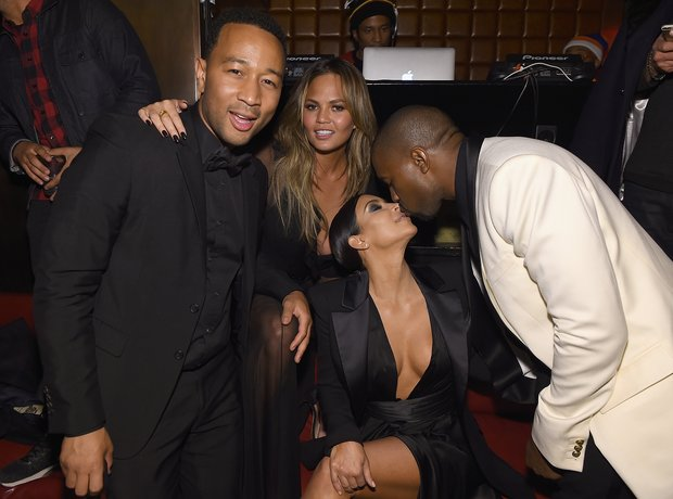 Kanye West Kim Kardashian John Legend and Chrissy