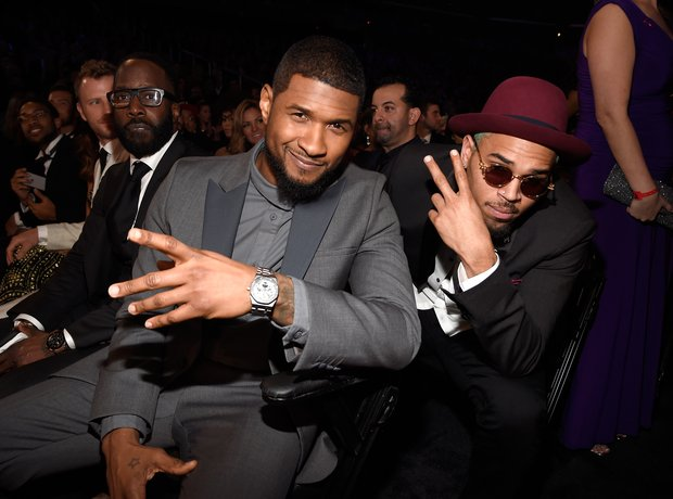 Usher and Chris Brown