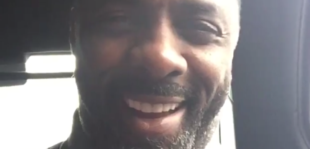 Idris Elba singing to Skepta
