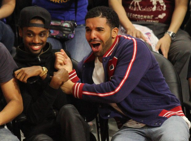 Drake attends Basket Ball Game