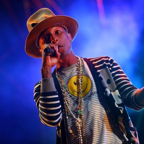 Pharrell Williams at Coachella Festival 2015