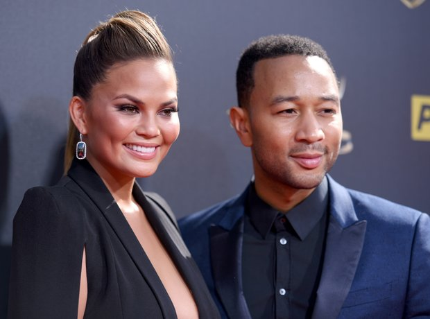 Chrissy Teigen and John Legend at the 42nd annual