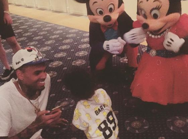Chris Brown Royalty and Disney Land