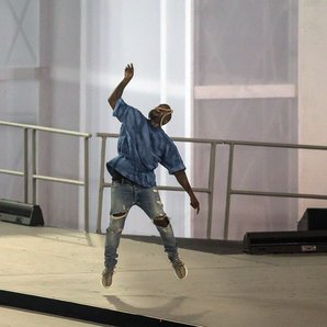 Kanye West onstage at Pan Am Games 2015