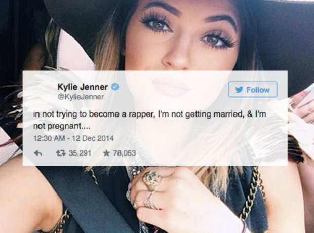 Kylie Jenner dismisses Tyga talk
