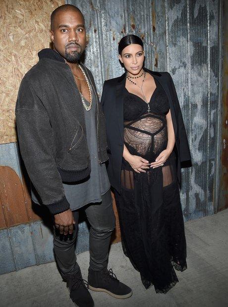 Kanye West Kim Kardashian New York Fashion Week