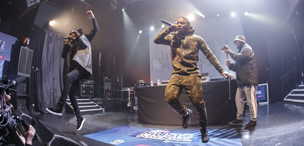 Krept and Konan on stage