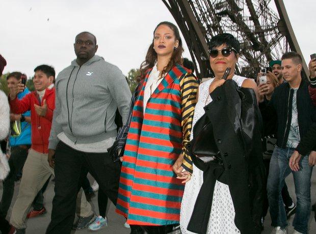 Rihanna and her mother Monica Braithwaite