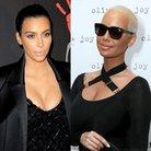 Amber Rose and Kim Kardashian