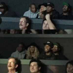 Beyonce and Jay Z at Britney concert