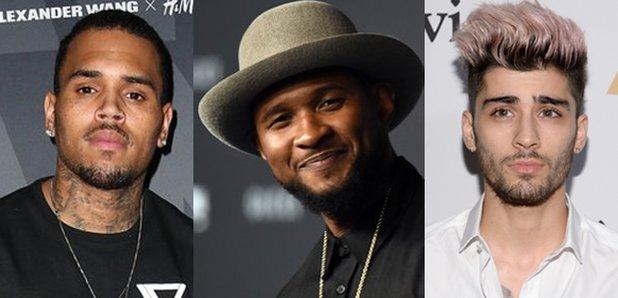 Chris Brown Usher Zayn Malik