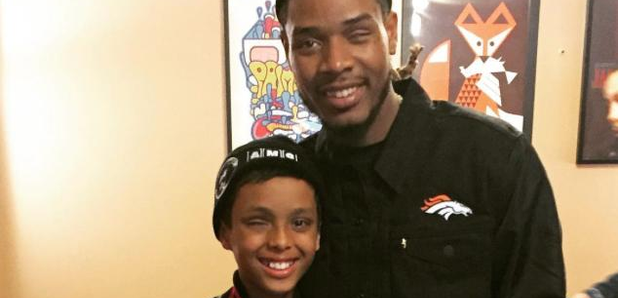 Fetty Wap with a fan