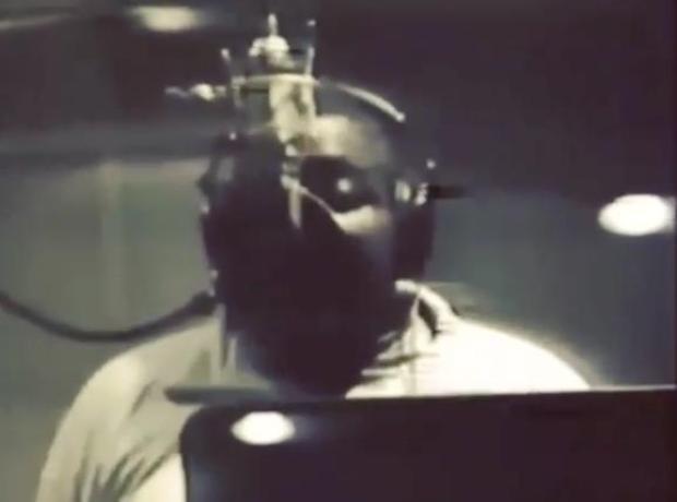 Biggie Rapping In Studio