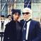 Image 5: Willow Smith stood next to Karl Lagerfeld