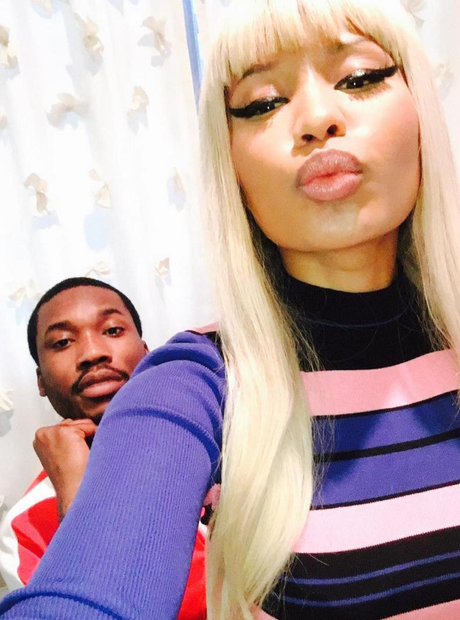 Nicki Minaj Meek Mill selfie