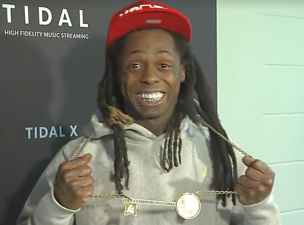 Lil Wayne wearing the key to Lafayette