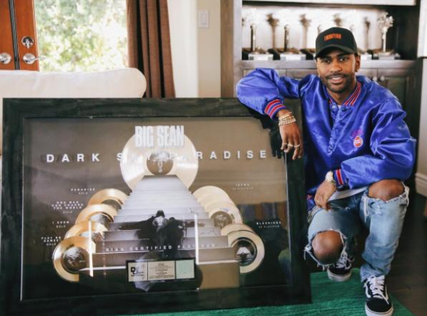 Big Sean Dark Sky Paradise Platinum plaque