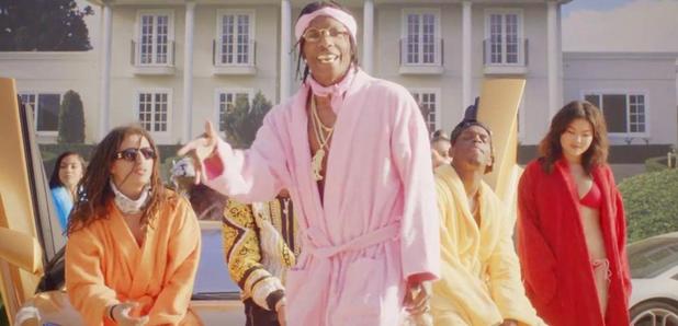 ASAP Rocky wearing dressing gown