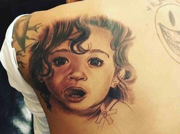 Chris Brown Royalty Tattoo