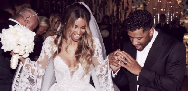 Ciara and Russell Wilson married