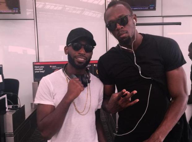 Tinie Tempah and Usain Bolt