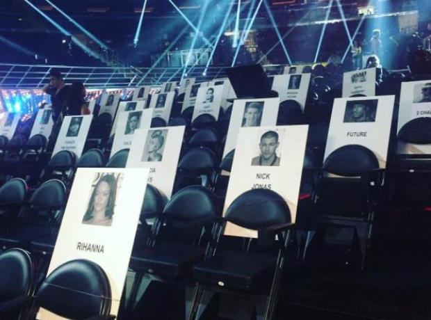 MTV VMAs Seating Plan