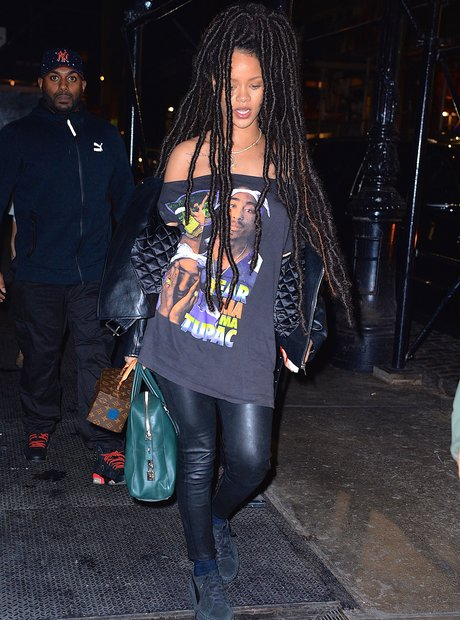 Rihanna with dreadlocks