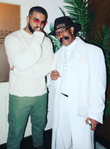 Drake and his father Dennis Graham AMAs