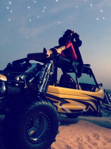 Kim Kardashian desert bike Dubai