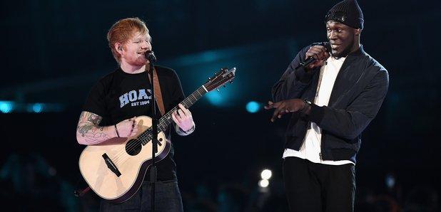 Ed Sheeran and Stormzy BRIT Awards 2017