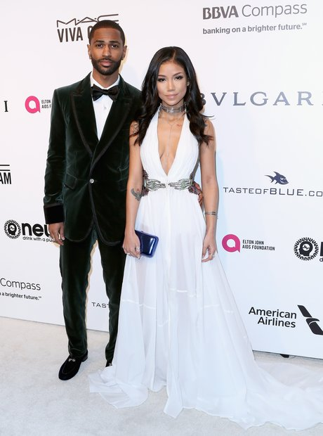 Big Sean and Jhene Aiko attend Elton John AIDS fou
