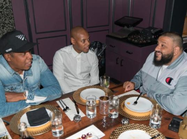 DJ Khaled looked deep in conversation with Jay Z a